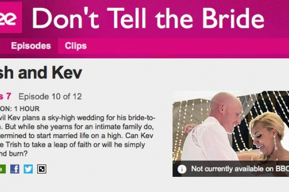 Don't tell the bride - BBC show featuring BelleRose Flower Boutique in this episode