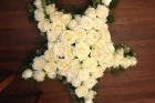 Bespoke white rose star